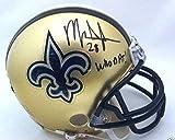 Autographed Mark Ingram Mini Helmet - Holo - Autographed NFL Mini Helmets
