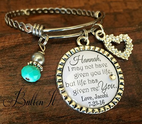 Step daughter gift, PERSONALIZED wedding gift, Personalized bracelet, WEDDING jewelry, step daughter wedding gift, step daughter bracelet, Bangle bracelet, blended family, charm bracelet