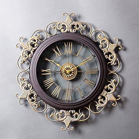 jhdb Occidentales Relojes Relojes de Pared grandes creativos Adornar la Salón Relojes pared Retro Reloj de pared Reloj Silenciar pizarras: Amazon.es: Hogar