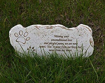 Meiyaa Pierre Commémorative Pour Animal Domestique Avec