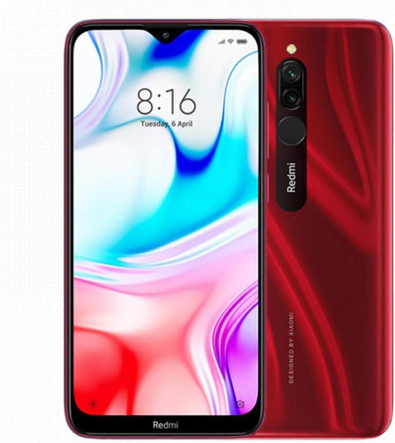 """Xiaomi Redmi 8 Teléfono 4GB RAM + 64GB ROM, Pantalla de caída de Puntos de 6.22 """", procesador Snapdragon 439 Octa-Core, cámara Frontal Dual de 8MP y cámara Trasera Dual AI de 12MP + 2MP (Rojo)"""