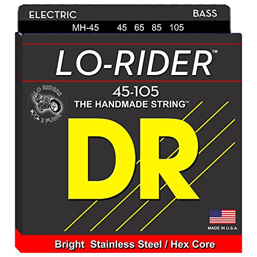 DR Strings Lo-Rider - Stainless Steel Hex Core Bass 45-105