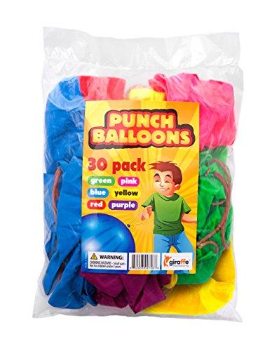 Giraffe - Neon Punch Balloons - (30 Count) (Cheap Carnival Games)