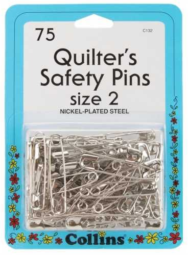 Quilt Safety Pin Size pieces