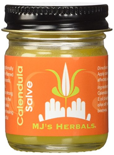 (MJ's Herbals Calendula Salve 1 Ounce Concentrate: Sensitive Skin Treatment, Organic, No Gluten, No Synthetics, No Parabens, No Petroleum, No Artificial Fragrance (Balm, Ointment, Cream, Moisturizer))
