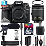 Holiday Saving Bundle for D7500 DSLR Camera + AF-P 18-55mm + Battery Grip + 2yr Extended Warranty + 32GB Class 10 Memory + 72 Monopod + UV Filter + Cleaning Kit - International Version