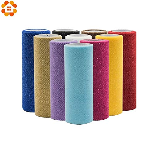 Tyro 10Yard/25YardX15cm Bling Crystal Tulle Roll Organza Sheer Gauze Element for Table Runner Home Garden Wedding Party Decoration from Tyro