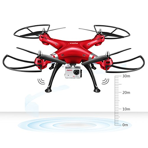 Syma-X8HG-Drone-New-Altitude-Hold-Mode-Headless-RC-Quadcopter-with-8MP-Camera-Red