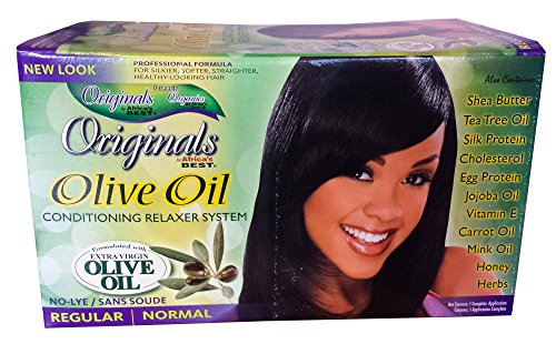 Good Hair Relaxer (Africa's Best Originals Olive Oil Conditioning Relaxer System for Women, Regular/Normal)
