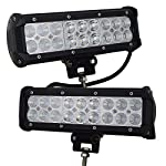 AUXTINGS 9″ 54W LED Light Bar Spot Flood Combo Beam 5400lm for Offroad Pick up trucks SUV 4WD AWD ATV UTV Boat Jeep Van Wagon Van Camper F150,2Pcs