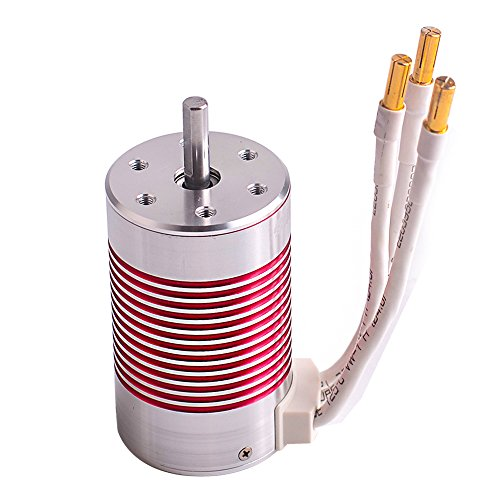 Jrelecs 3660 2600KV RC Brushless Motor 4 Pole Sensorless Waterproof 5.0mm Shaft for for 1/10 1:10 Scale RC Car HSP 94123,HuanQi 727,FS Racing 53625/53632