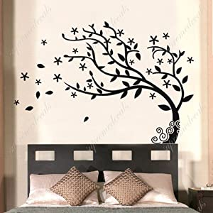 amazoncom custom popdecals bedroom decor must have With what kind of paint to use on kitchen cabinets for wall art decals trees