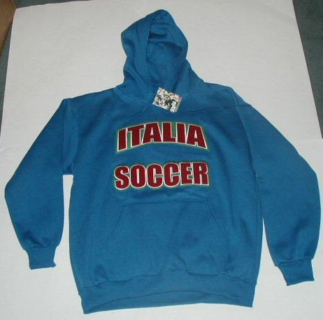 Italy Italia Blue Soccer Hoodie (Hooded Sweatshirt). Brand New. SIZE MEN'S EXTRA LARGE (XL). Retail $65.00.