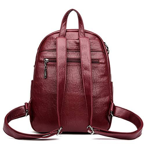 Adolescent Daypacks Femmes Cuir Black Design Femelle En Véritable Casual Bagpack Filles Cartable Gensotrn Ad6wBqzz