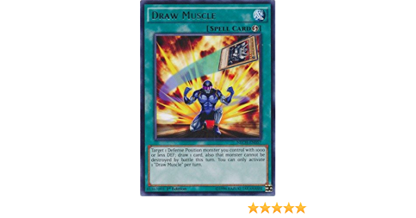 NECH-EN057-1st EDITION YU-GI-OH RARE DRAW MUSCLE