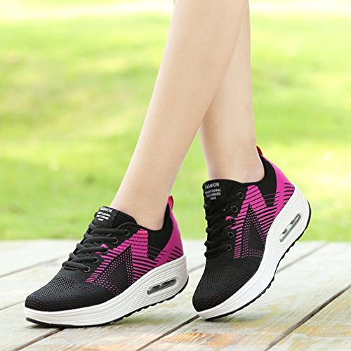 Pour Sport Femme De Chic Et Lacets Solshine Avec Chaussures amp;pink Walkmaxx 2 Schwarz x1qCHwgZT