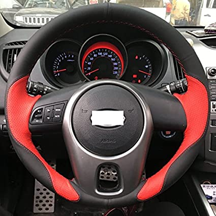 Kia Soul Accessories >> Amazon Com Ji Loncky Genuine Leather Auto Custom Steering Wheel