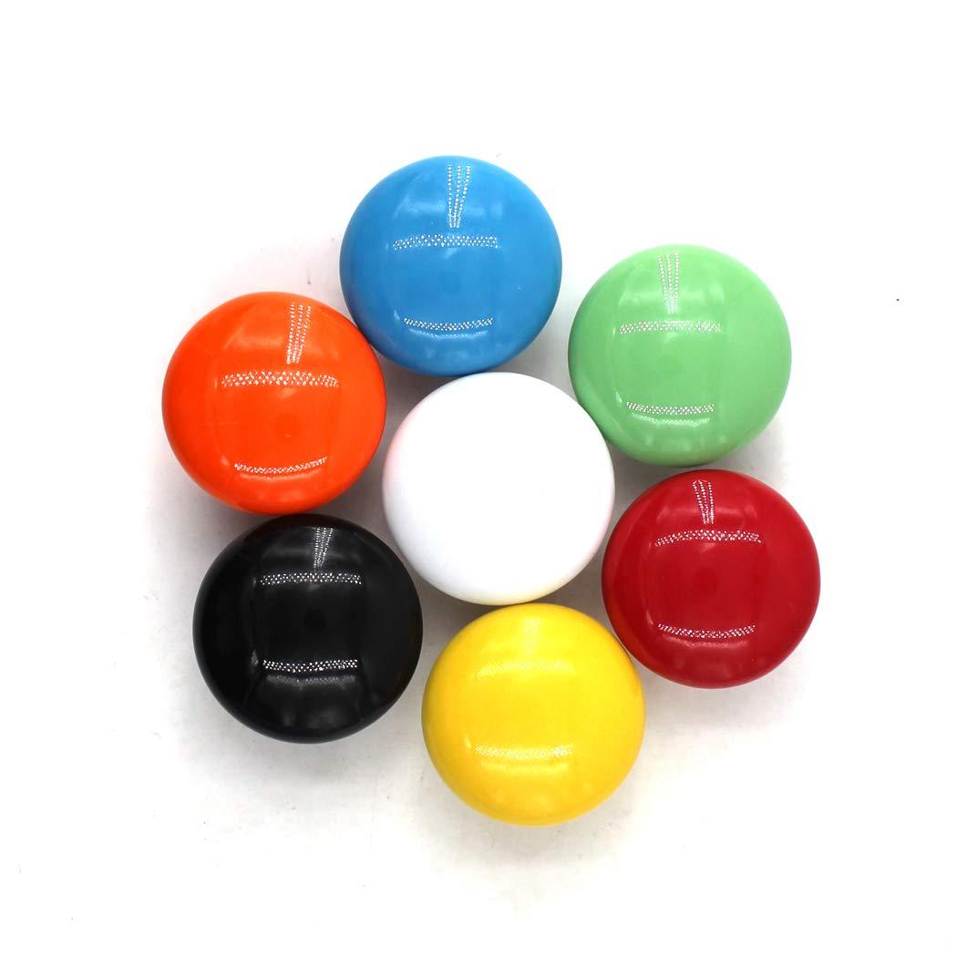 paquete de 10 tornillos incluidos Amarillo Perillas redondas de cer/ámica Tirador de la manija de la perilla del gabinete para los cajones del tocador de la habitaci/ón infantil