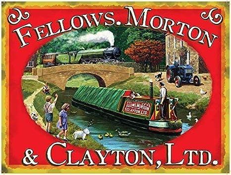 Fellowes, Morton & CLAYTON Ltd. Canal Barge con verde Locomotora de Vapor Tren Y