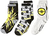 Pokemon Little Boys 3 Pack Crew Socks