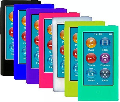 ColorYourLife-7pcs-Soft-Silicone-Gel-Skins-Cases-Covers-for-New-iPod-Nano-7th-Generation-with-Screen-Protector-in-Retail-Packaging