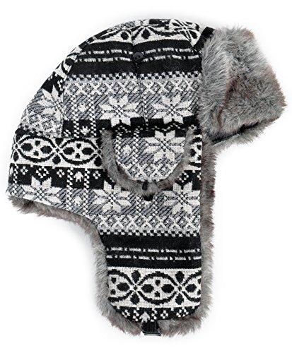 Trapper Aztec - Winter Aztec Trapper Aviator Hat (HT0319) (Gray)