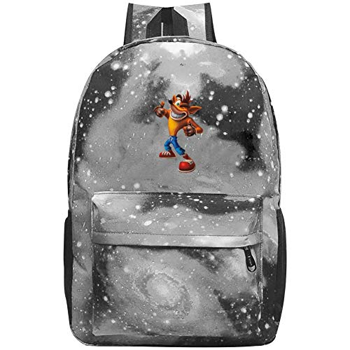(KAKAKAA Crash Team Racing Nitro-Fueled Unisex Galaxy Star Travel Backpack Outdoor School Bag)