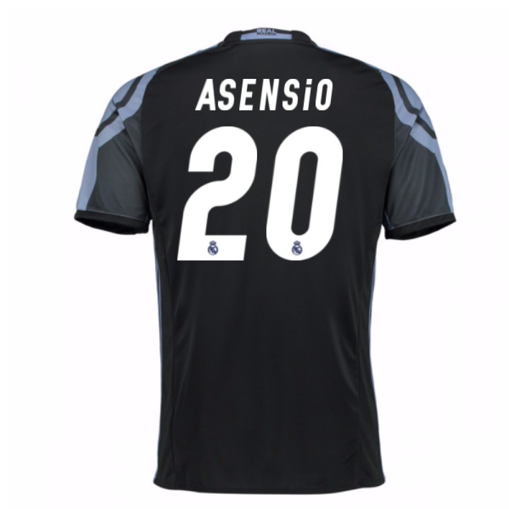 2016-17 Real Madrid 3rd Football Soccer T-Shirt Trikot (Marco Asensio 20)