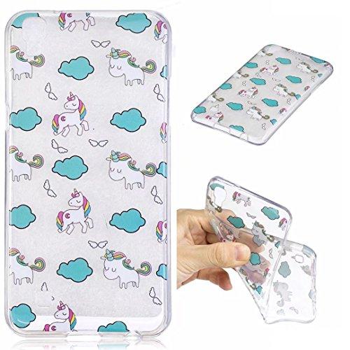 Funda iPhone 6/6s silicona suave TPU transparente Claro Animal y flor delgado contraportada Cubierta protectora por JOYTAG-Coala Nubes licornes