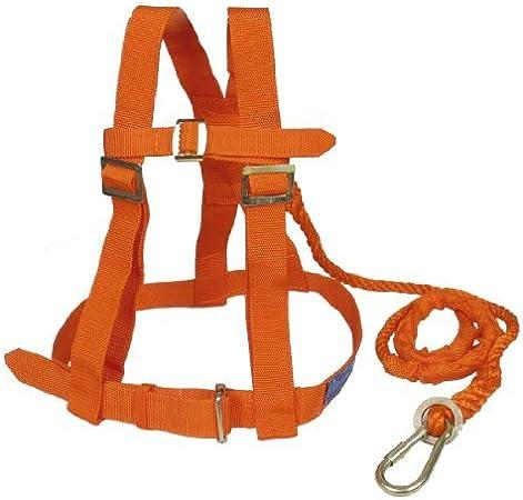 DealMux Nylon Escalada cordón de cuerpo completo Protección Seguridad arnés ajustable naranja w Gancho
