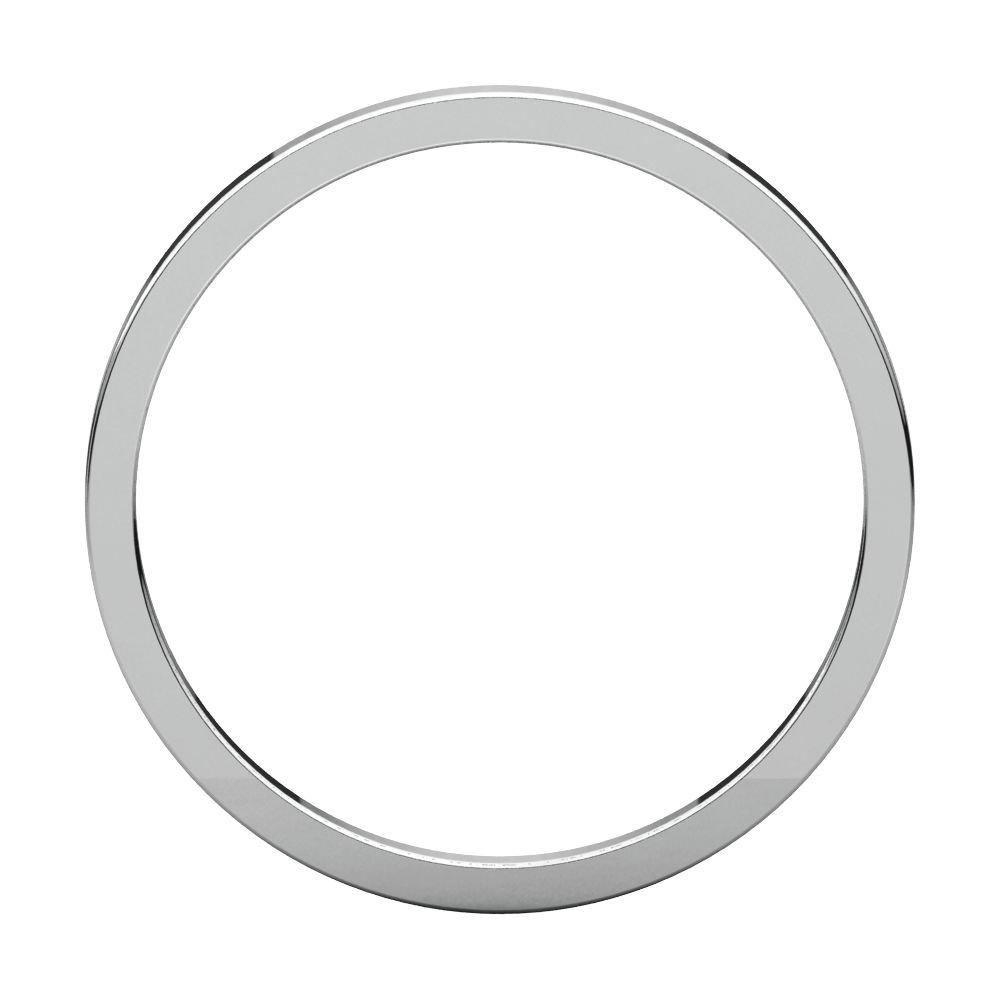 14K White Gold 1.5mm Flat Edge Band