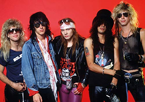 Art-I-Ficial Guns n Roses Red Music Photo Band Album Rock Music Vintage Style Poster 33x23.5 inch (Guns N Roses Live At The Hard Rock)