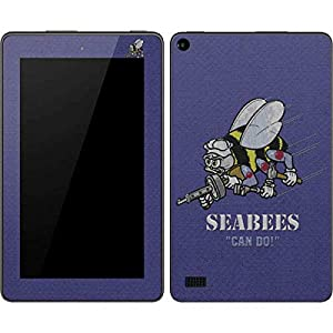 Skinit Seabees Can Do Kindle Fire (7in, 2015) Skin - Officially Licensed US Navy Tablet Decal - Ultra Thin, Lightweight Vinyl Decal Protection from Skinit