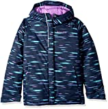 Columbia Little Girls' Horizon Ride Jacket, Collegiate Navy Lite Brite, Small