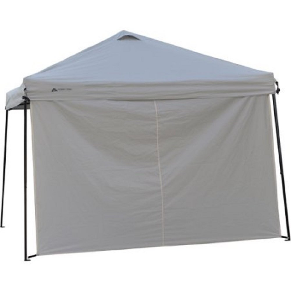 Quick and Easy-to-Setup 10'x10' Sun Wall for Straight Leg Canopy/Gazebo (Light Grey)