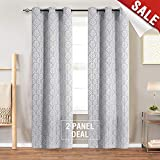 Light Filtering Curtains for Windows Jacquard Curtain Panels for Living Room 63 inch