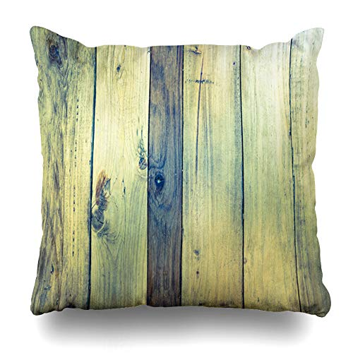 Ahawoso Throw Pillow Cover Square 16x16 Exterior Brown Blank Wood Shadows Old Panels Stripe Antique Vintage Board Color Dark Dirty Dry Section Zippered Cushion Case Home Decor - Brown Stripe Shadow