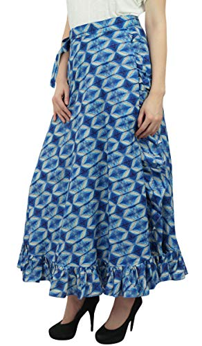 Ceinture Jupe Femmes Bleu Robe imprim Shibori Phagun Auto volante Coton Portefeuille gqCBwxZHf