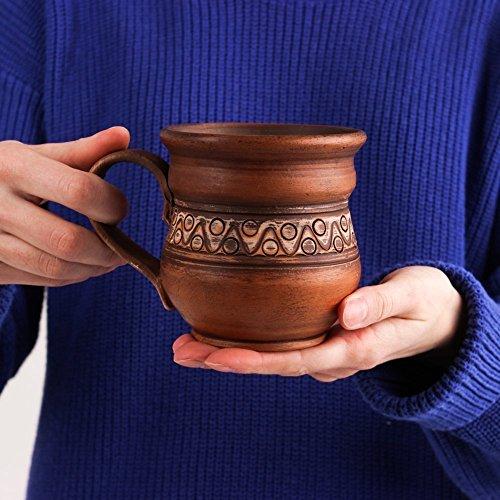 Rustic Pottery - Coffee mug Handmade ceramic Rustic pottery Eco friendly Drinkware tasses