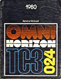 Chrysler Corporation 1980 Service Manual - Plymouth: Horizon and Horizon TC3, Dodge: Omni and Omni 024