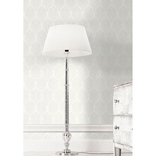 Gatsby Art Deco Glitter Wallpaper Dove Grey and White Holden Decor - Uk Gatsby