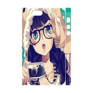 Wlicke Anime girl Unique Design Durable Iphone 5,5g,5s 3D Case, Custom Protective Case for Iphone 5,5g,5s with Anime girl