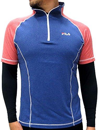 取り除く魔女合併[フィラ] アンダーシャツ メンズ スポーツシャツ コンプレッション セット スポーツインナー ハーフジップ