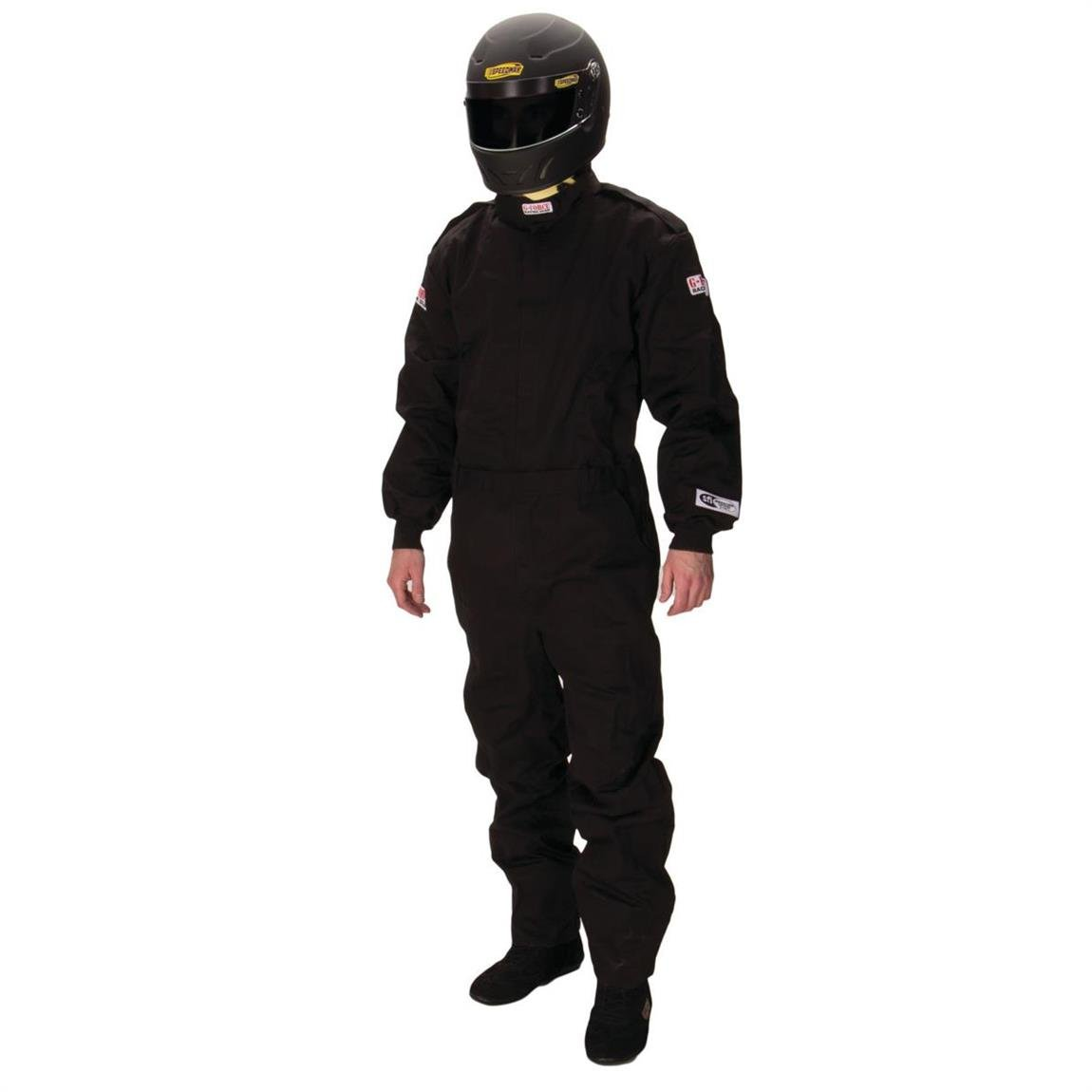 G-Force 4125LRGBK GF 125 Black Large Single Layer Racing Suit