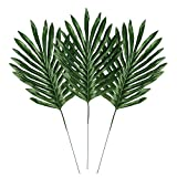 LEAFBABY 24 PCS Artificial Fake Lifelike Simulation Tropical Palm Leaves for Home Kitchen Party Decorations