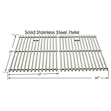 Replacement Stainless Steel Cooking Grid for Broil King, Charbroil, Grill Master, Charmglow, Coleman, , Jacuzzi, Arkla, Kenmore, Sterling and Sunbeam Gas Grill Models, Set of 2