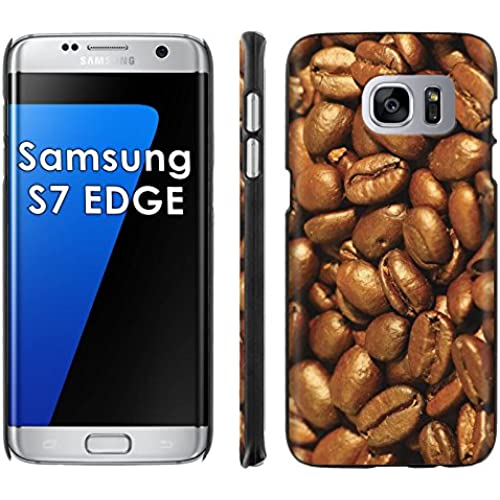 Samsung Galaxy [S7 EDGE] Phone Cover, Coffee Beans- Black Slim Clip-on Phone Case for [Samsung Galaxy [S7 EDGE]] Sales