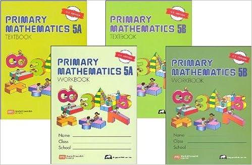 Primary Mathematics Grade 5 SET--Textbooks 5A and 5B, Workbooks 5A ...