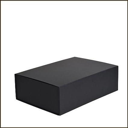 Caja magnética de cartón negro mate, 33 cm, BP330NB: Amazon.es: Oficina y papelería