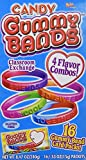 Candy Gummy Bands Wristbands and Valentines - Pack of 16